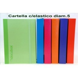 CARTELLA CON ELASTICO D.5 ASSORTITE
