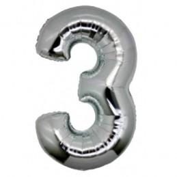 NUMERO 3 SILVER CM.18